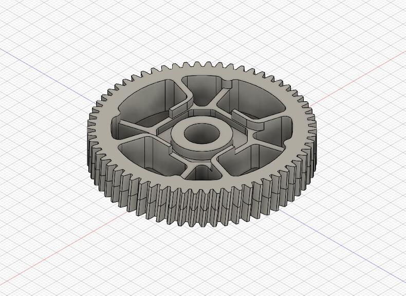 3D-Modell Zahnrad Ersatzteil